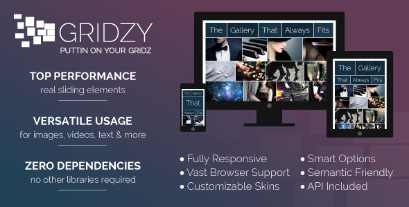 Gridzy – Fully Responsive and Customizable Gallery